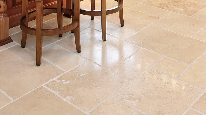 While ceramic and stone flooring is not as easy to install as some other flooring  types, it's a very affordable choice to have installed by a professional.