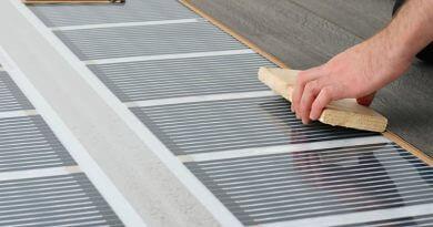 install tile over radiant heated floor
