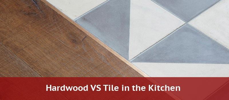 wood vs tile in kitchen