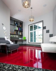 Offsetting Dominant Orange And Red Toned Floors With Cool Whites Or Pale Blues Greens Is A Fairly Clic Décor Idea For More Contemporary Feel