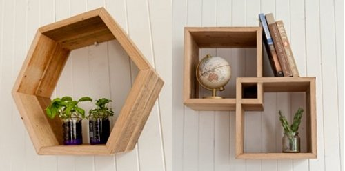 Simple Wooden Box Shelves Made From Recycled Wood