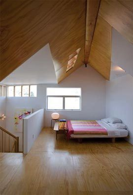 Attic plywood floor