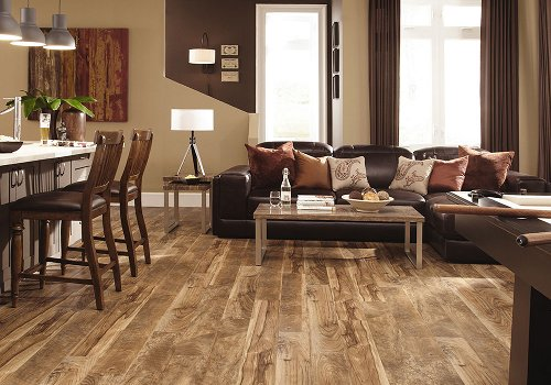 Rustic Luxury Vinyl Wood Look Tile Flooring