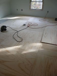 Hardwood Floor Underlayment 34 in hardwood floor on wooden framework The Preferred Underlayment For Vinyl Flooring Is 14 Plywood Some Installers Will Lay Vinyl Over Existing Osb Or Plywood Subflooring If It Is In Excellent