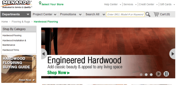 Menards has 280 stores across 12 states, while a big well known  organisation they seem to be a little off the pace. Their online presence  isn't great, ... - 36 Best Places To Buy Hardwood Flooring HomeFlooringPros.com