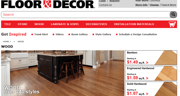 This is a dedicated flooring retailer we like, with 54 stores nationwide  and with new stores to come. Their physical stores are complimented by a  website ... - 36 Best Places To Buy Hardwood Flooring HomeFlooringPros.com