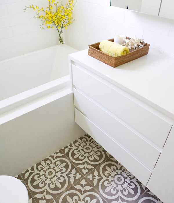 Floor tile ideas for bathroom