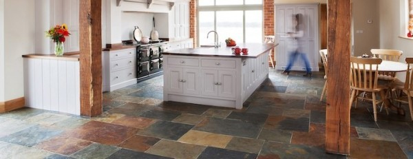 Stone Kitchen Flooring. Rustic Charm 1