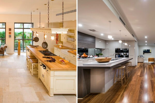 tile vs hardwood in kitchen best flooring for the kitchen a buyers guide 8508