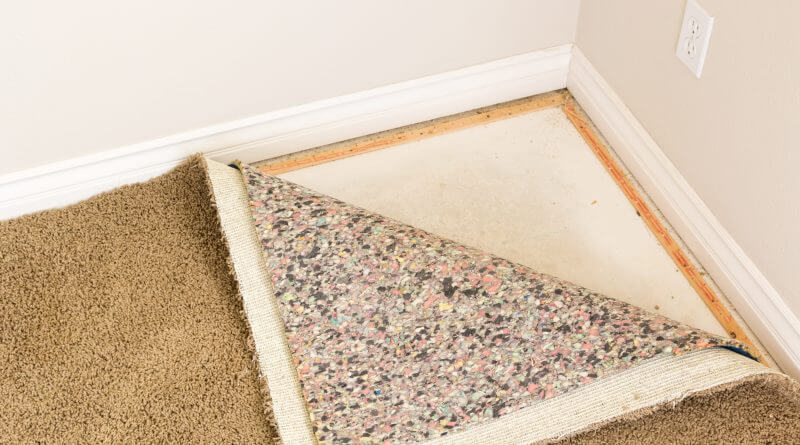 old carpet being removed