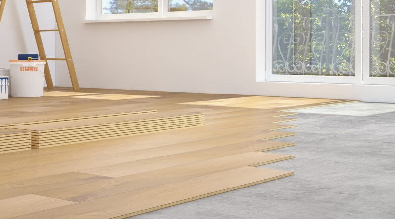 How to Install Laminate Flooring Over Concrete | HomeFlooringPros com