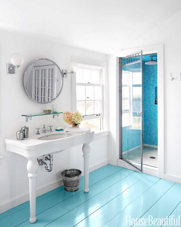 painting a bathroom floor painted floors amp steps 22 top design ideas using colors 19875