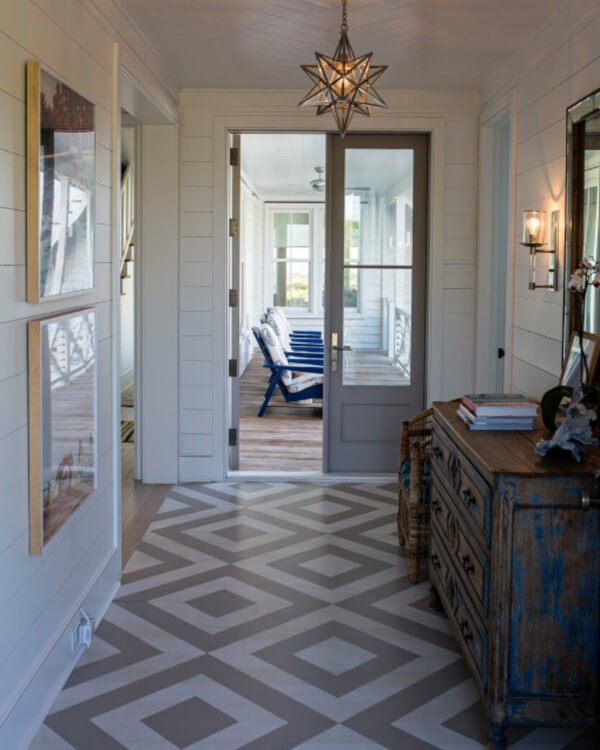 Painted Floors Steps Top Design Ideas Using Colors And Patterns - Repainting floor tiles