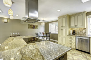 granite kitchen flooring and countertops