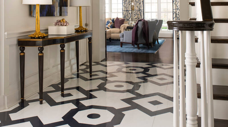 Painted Floors Amp Steps 22 Top Design Ideas Using Colors
