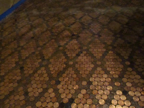 patterned pennies