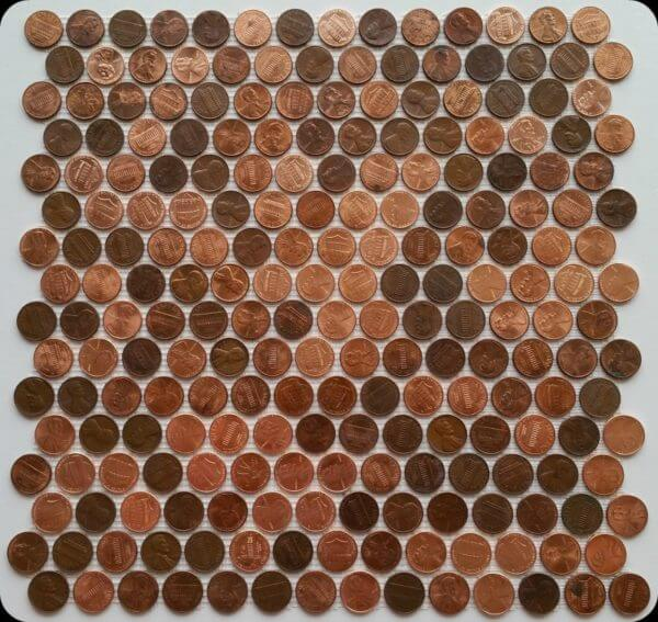 pre made penny tile