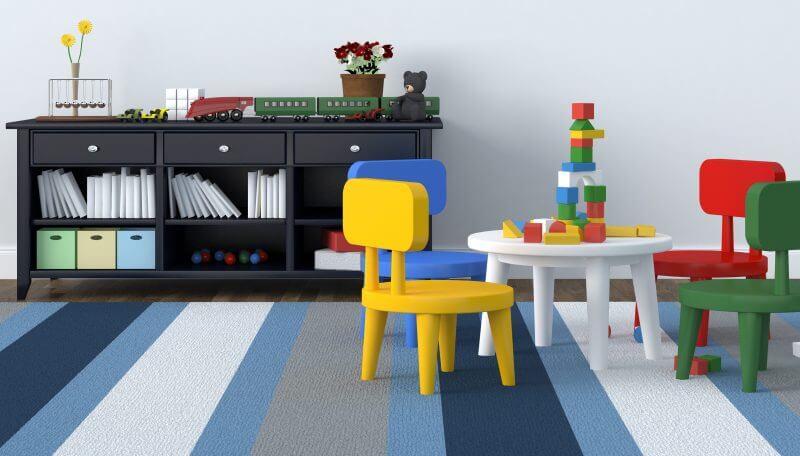 rubber floor in playroom
