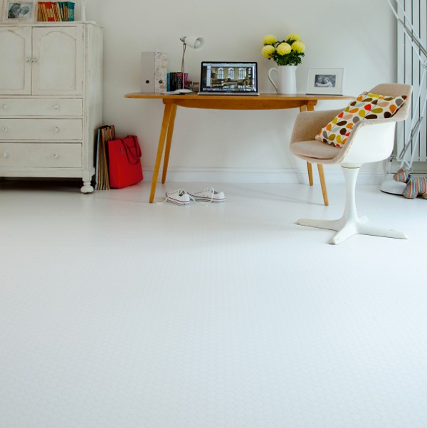 White Wood Floors And Other White Flooring Options Ideas - Shiny lino flooring