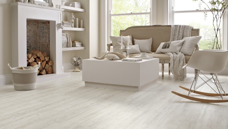 With all the hustle and bustle of everyday life, many of us are looking to  create homes that are an oasis of calm and peace, where clutter and chaos  are ... - White Wood Floors And Other White Flooring Options & Ideas