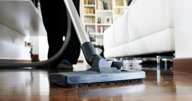 closeup of vacuum on wood floor