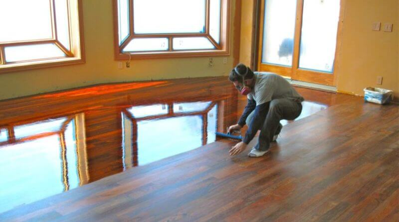- How To Apply Polyurethane To Wood Floors €� Ask The Home Flooring Pros
