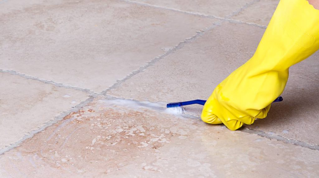How To Clean Tile Floor Grout Like The Home Flooring Pros - What is the best solution to clean tile floors