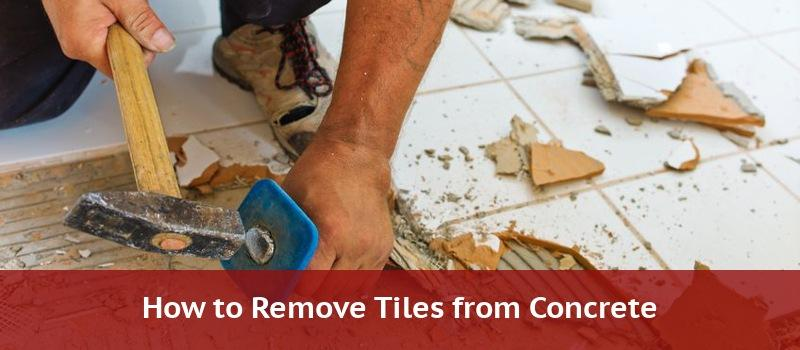 removing tile from a concrete floor