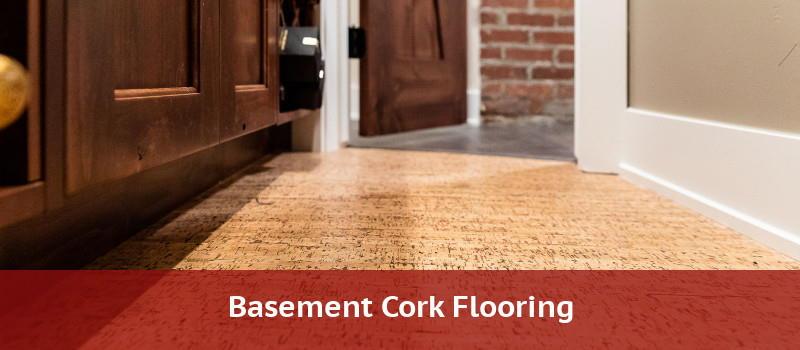 Cork flooring in a basement