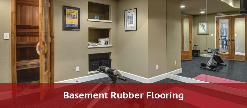 Rubber flooring for a basement